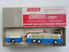 EHEIM 108 - Trolly Bus - Dreiachsiger-Motorwagen nit Gepäckanhänger in OVP