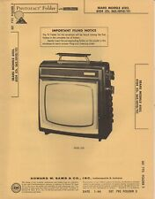 1966 SEARS 6103 6104 TELEVISION SERVICE MANUAL PHOTOFACT SCHEMATIC DIAGRAM FIX