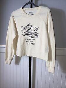 Anthropologie Morgan Harpe Sweatshirt Size XS Womens Long Sleeve Pullover