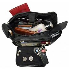 FANNY PACK EXTRA LARGE LAMBSKIN LEATHER WITH 2 SIDE POCKETS /CREDIT CARD HOLDER