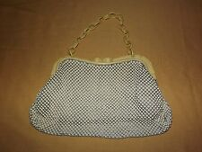 VINTAGE WOMEN'S POCKETBOOK HANDBAG WHITING & DAVIS BEADED PURSE