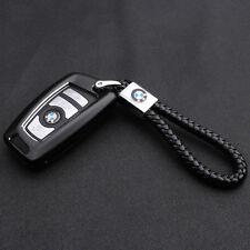 Neue Auto Leder Schlüsselanhänger Schwarz für BMW Emblem Tuning Keyring