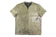 INC INTERNATIONAL CONCEPTS GOLD XL STRETCH SHEER SLIT NECK TSHIRT MENS NWT NEW