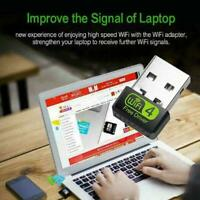 USB WiFi Dongle 150mbps Dual Band 2.4G Wireless Adapter Card DIY Network I9Z2