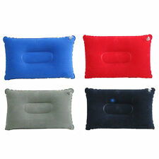 Inflatable Pillow Neck Support Flocked Blow-Up Cushion For Travel Random Color