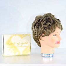 Short Wig by Heart of Gold Gray Ash-Brown Color 38 Size A Style HG071 Honor