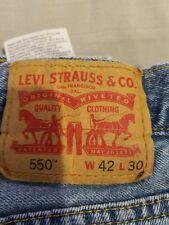Mens Levi 550 Denim Blue Jeans 42X30