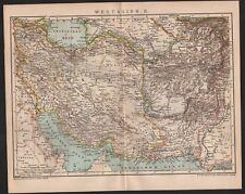 Landkarte map 1900: WEST-ASIEN II. Persien Afghanistan
