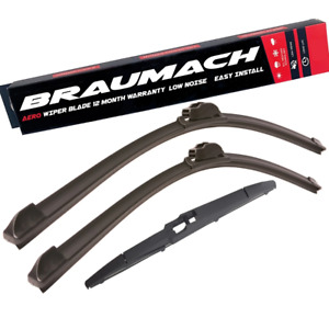Front Rear Wiper Blades for Ssangyong Rodius MPV 2.0 Xdi 2013-2018