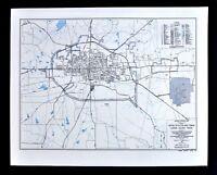 Texas Map - Lamar County - Paris City Plan - Cox Airport Highways Railroads