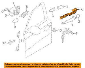 Infiniti NISSAN OEM 14-18 QX60 Front Door-Handle Base Left 806113JA0A