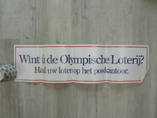 STICKER,DECAL  BIG SIZE PTT POST FOLDED WINT U DE OLYMPISCHE LOTERIJ HAAL UW LOT