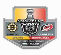 2020 STANLEY CUP NHL PLAYOFFS PIN 1ST FIRST ROUND BOSTON BRUINS VS. HURRICANES