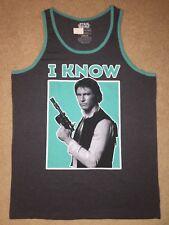 STAR Wars movie HAN SOLO Chewbacca New MEN'S Tank TOP Sleeveless beach T-Shirt