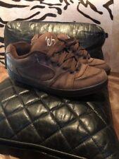 "Eric Koston ES Skateboarding Shoes Sneakers ""B"" Suede Brown 13 Retro Shoes"