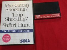MARKSMAN SHOOTING TRAP SHOOTING SAFARI HUNT SEGA MASTER SYSTEM II 2