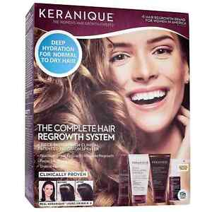 Keranique The Complete Hair Regrowth System 4 Pc Women's Clinically Proven 10/22