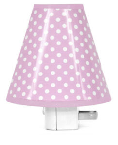 Led Night Light Pink With White Dots, Auto On/ Off Light Sensor