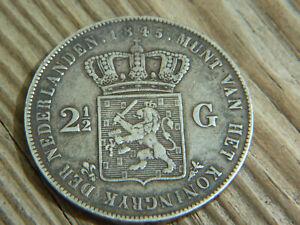 Dutch 2-and-a-half Guilder, 1845   (lot 10)