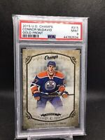 2015-16 Upper Deck Champ's Gold Front #315 Connor McDavid Rookie RC SSP PSA 9