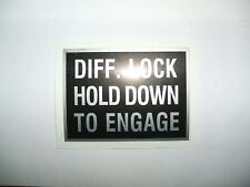 'DIFF LOCK', STICKER/DECAL (VINTAGE/CLASSIC NUFFIELD 3/45 TRACTOR)