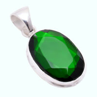 925 Sterling Silver Overlay Pendant, Chrome Gemstone Fashion Jewelry PP230