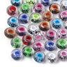 100pcs Random Resin European Beads Faceted Rondelle Inner Flower Large Hole 14mm