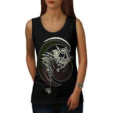 Wellcoda Fish Bone Skeleton Womens Tank Top, Tattoo Athletic Sports Shirt