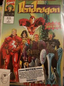 The Knights of Pendragon 2nd series #1 July 1992 Marvel Uk Comic with USA Notice