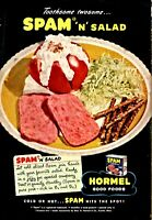 1944 WWII SPAM Hormel Wartime Canned Meat Vintage Food Kitchen Decor AD