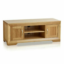 Oak Furniture Land - Bevel - Natural Solid Oak - Large TV Unit