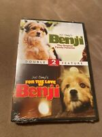 Benji & For the Love of Benji DVD Double Feature New Sealed Joe Camp