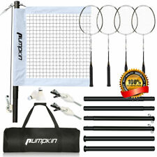 Professional Badminton Set with 4 Carbon Fiber Rackets, 2 Shuttlecocks, 4 People