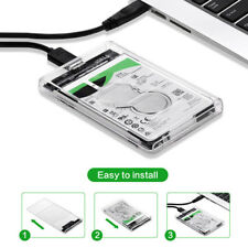 2.5 Inch USB 3.0 SATA SSD HDD Hard Drive Dock Station Enclosure Case Transparent