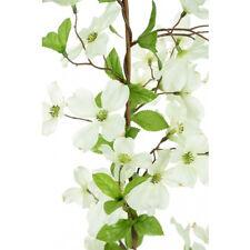Artificial Silk Dogwood Flower Garland White 150cm