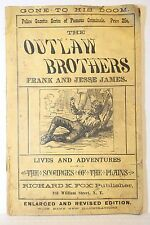 police gazette series famous criminals outlaws brothers frank and jesse james