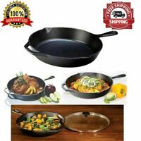 Lodge Pre-Seasoned 12 Inch. Cast Iron Skillet Frying Pan With Assist Handle