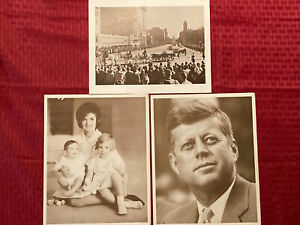 John F Kennedy JFK Related 8.5x10.5 Photos Set Of 3