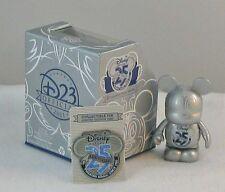 Disney D23 EXPO Disney Store 25th Anniversary Vinylmation & Pin Set