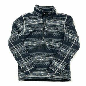 The North Face Gordon Lyons medium Black Patterned 1/4 Zip Sweater NWT!