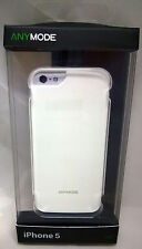 Anymode Hard Suit Case Polycarbonate Anti-Bacterial iPhone 5/5S/SE White NEW