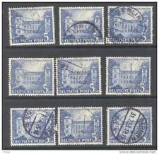 Berlin, 1949 5DM (9 copies) fine used, cat E180 (D)