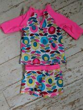 Girls Sun Suit - UV Protection Swim Suit - 12-18 Months