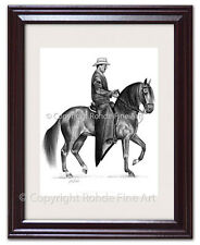 FRAMED PASO FINO HORSE ART - Fine Steps - signed by artist Rohde - quality