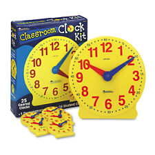 Learning Resources Classroom Clock Kit Learning Clock for Grades Pre-K-4 LER2102