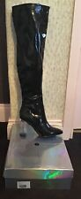 Black Patent Over The Knee Boots UK Size 5