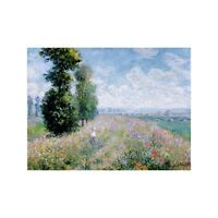 Poster Claude Monet Meadow with Poplars (detail) Stampa su Carta