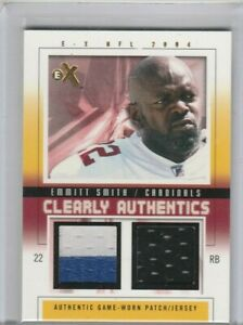 Emmitt Smith 2004 Fleer E-X Clearly Authentics Dual Jersey Patch #/50 *COWBOYS*