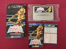 Super Power League 4 Super Famicom Complete Hudson Soft Japanese Free UK P&P
