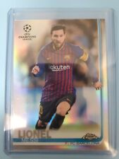 Lionel Messi 2019 Topps Chrome Uefa Champions League Soccer Refractor #01